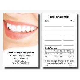 Biglietti Appuntamenti Dentisti con Orario Apertura (mod. 301)