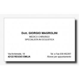 Biglietti da Visita Oculisti (mod. 1)