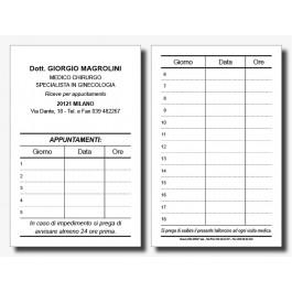 Cartoncini Appuntamenti Medici (mod. 1)