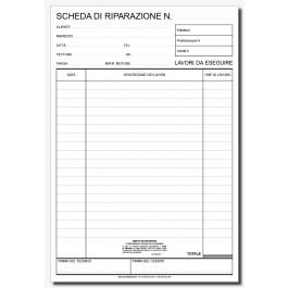 Schede Riparazioni Autofficine e Carrozzerie (fronte)