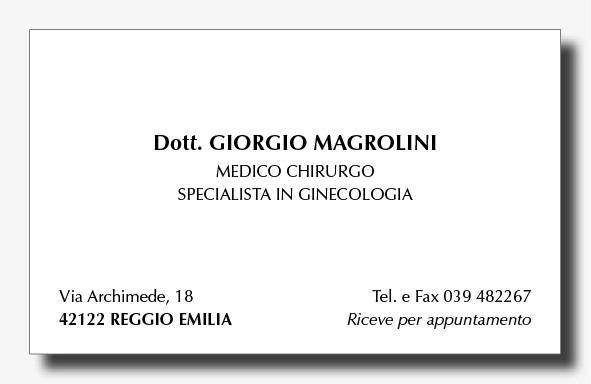 Preferenza Stampa Biglietti da Visita Personalizzati per Medici  CO26